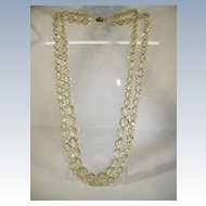 VINTAGE  Massive Thermoplastic Double Strand Necklace 34 inches