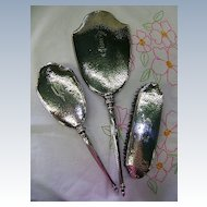 VINTAGE Three Piece Sterling Dresser Set  MILDRED