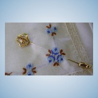 VINTAGE Diamond 10K Filigree Stick Pin