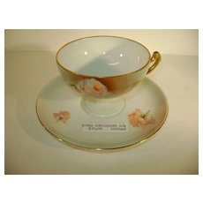 VINTAGE Royal Rudolstadt Prussia Cup and Saucer  Lovely