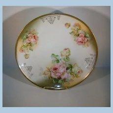 VINTAGE 9 1/2 Plate of Austria Garlsado Beautiful Open Roses