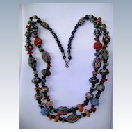 VINTAGE Tribal  Necklace Colorful and Beautiful  60's
