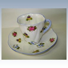 VINTAGE Shelley Demitasse Cup and Saucer Beautiful