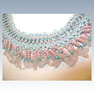 Beaded Vintage Necklace  Sweet
