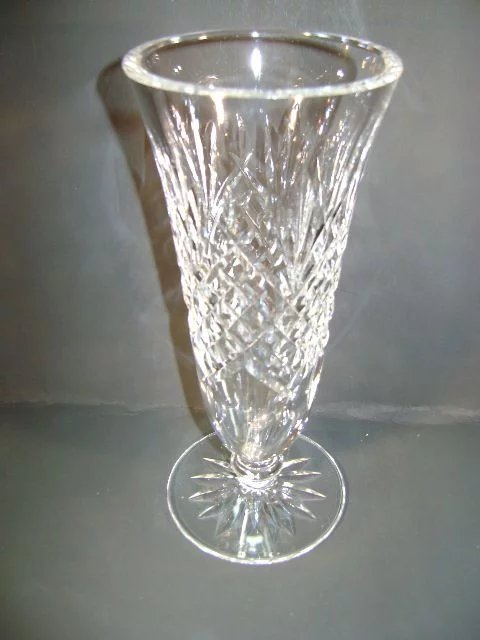 Vintage Waterford Vase 7 Inch 3 Inch Mouth And Base Ruth S Antiques Ruby Lane