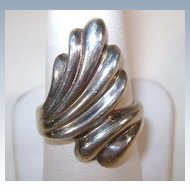 VINTAGE Sterling Swirl Ring Size 8