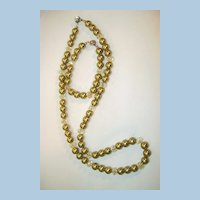 Fresh-Water Pearl Necklace and Bracelet  24 inch necklace