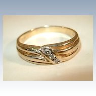 VINTAGE Man's Diamond Band !0K  Size 14 1/2