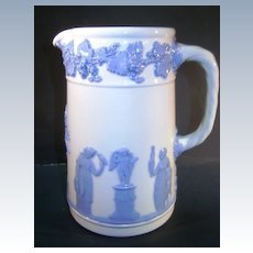 VINTAGE  Wedgwood Embossed Queens-ware 5 inch Pitcher  England