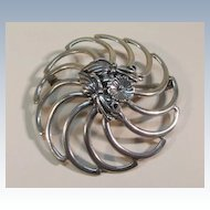 VINTAGE  Sterling Large Brooch  Classic!