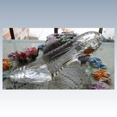 LARGE Glass Slipper Wedding Deco or Gift or Collectable From the 80's