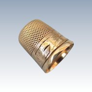 VINTAGE Gold Thimble  10K Marked Size  8