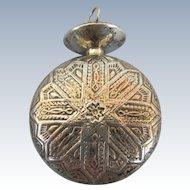 VINTAGE Sterling Perfume Pendant  Marked on Doppler