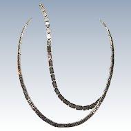 VINTAGE Sterling Greek Key Necklace and Bracelet