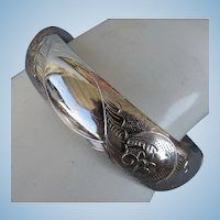 VINTAGE  H.F. Barrows Co Sterling Bangle  Lovely