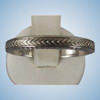 VINTAGE  White Gold 18K Wedding Ring Size 10  1933