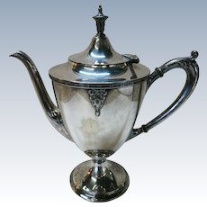 VINTAGE Silver Plate Coffee Pot Great Lines