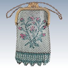 VINTAGE Mandalian Mesh Purse Flappers Delight Spring Garden