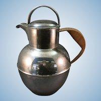 VINTAGE Silverplated Water Jug or Pot  Great Display Piece  Reed Handle