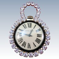 VINTAGE Wind Up Watch  Otto Grun Rhinestone Heaven  From the 50's