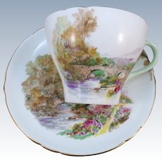 VINTAGE Shelley Fine Bone China Made in England  Cup and Saucer Heather
