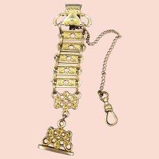 Ca 1920s San Gabriel Mission California Brass Watch Fob