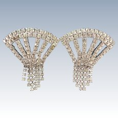 VINTAGE  Rhinestone Shoe Clips from the 1970's