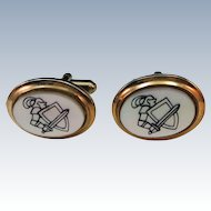 VINTAGE  Knight in Shining Armor  King Arthur   Lovely Cuff Links