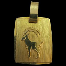 VINTAGE  750 (18K) Charm  Aries 1st Sign of Zodiac