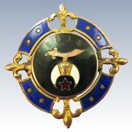 VINTAGE Elaborate Enameled Masonic IsIs  Medal