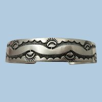 VINTAGE Sterling Wave Bracelet