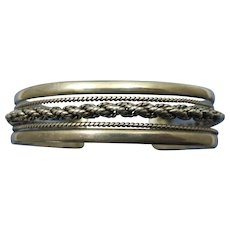 VINTAGE Older Sterling Bracelet With Signature