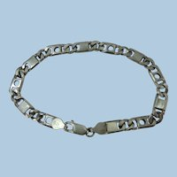 VINTAGE Sterling 8 Inch Bracelet Made in Italy