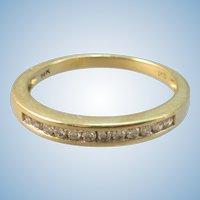 VINTAGE Yellow Gold 14K 12 Diamond Ring  Size 7 1/4