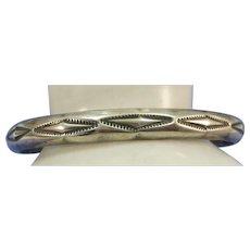 430b9ee95 VINTAGE Cast Sterling Cuff Bracelet Fairly Heavy 24.27g