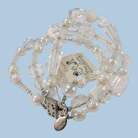 VINTAGE Three Ladies Bracelet  Three Strands Lovely