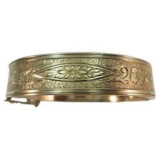 VINTAGE Gold Filled Bracelet with Insert Closure   Charming!