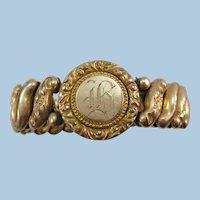 VINTAGE 40'S Sweetheart Expansion Band Bracelet  Gold Filled