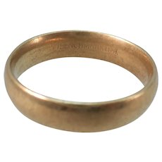 VINTAGE 14k  Gold Ring Hammered Finish Size 6 snug