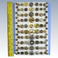 VINTAGE  Aunt Sally's Button Collection  Metal Assorted Buttons