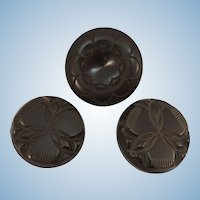 VINTAGE  Three Bakelite Coat Buttons 30's