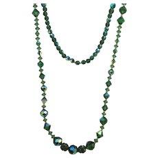 VINTAGE  Long Flapper length  36 Inch Glass Beads  Interesting!