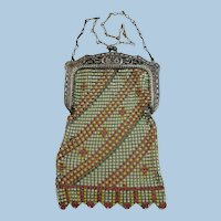 VINTAGE 20'S Flapper Mesh Purse by the Famous Whiting and Davis Company