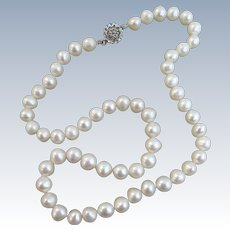 VINTAGE Fresh-water Pearls Necklace 17 Inch