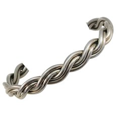 VINTAGE Sterling Double Twist Bracelet Classic Stacker