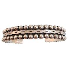 VINTAGE Mexican Sterling Stack Bracelet Signed