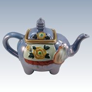 VINTAGE Blue Luster Elephant Tea Pot   Charming