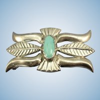 VINTAGE Beautiful Heavy Sand-Cast Belt Buckle  Sleeping Beauty Turquoise