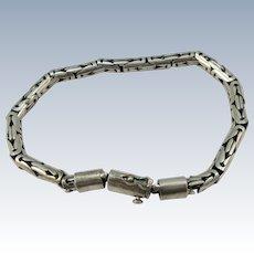 VINTAGE Sterling 8  1/2 Inch Mans Classic Heavy Bracelet