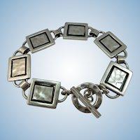 VINTAGE Sterling Large Bracelet Six Links Unisex